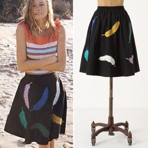 Anthro Yarn Plumes Feather Skirt Girls From Savoy